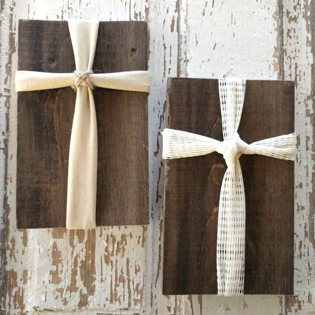 Fabric & Wood Cross/Craft