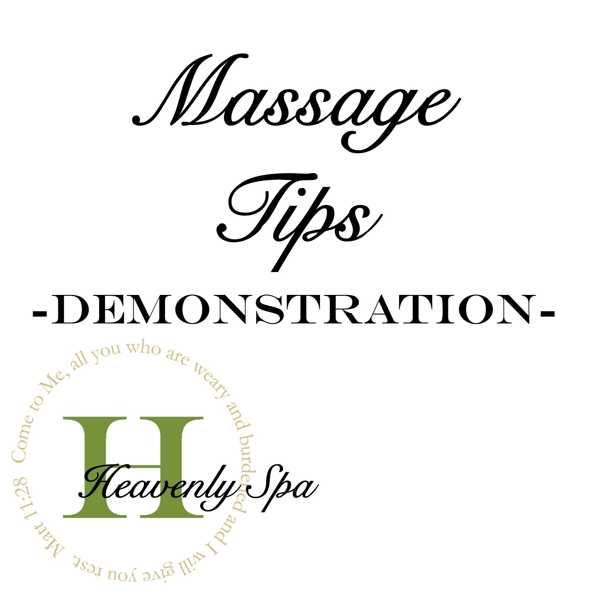 Massage Tips -Demo-
