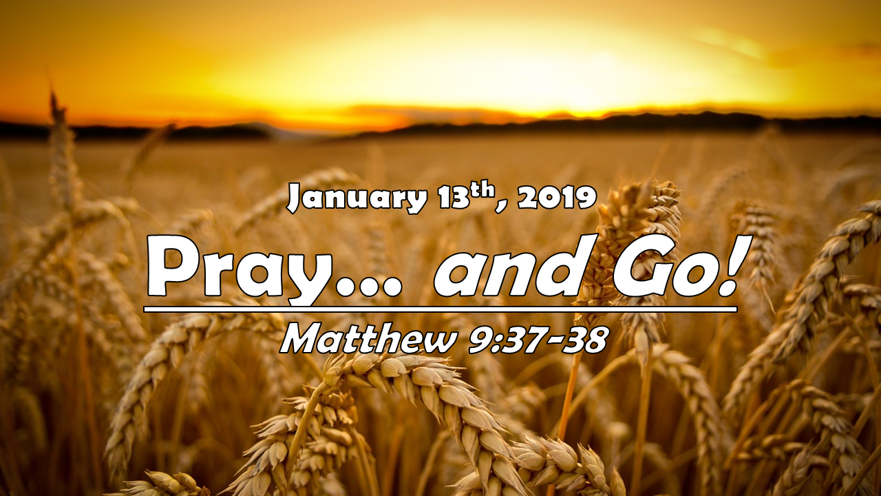 Pray!… and GO! | January 13, 2019