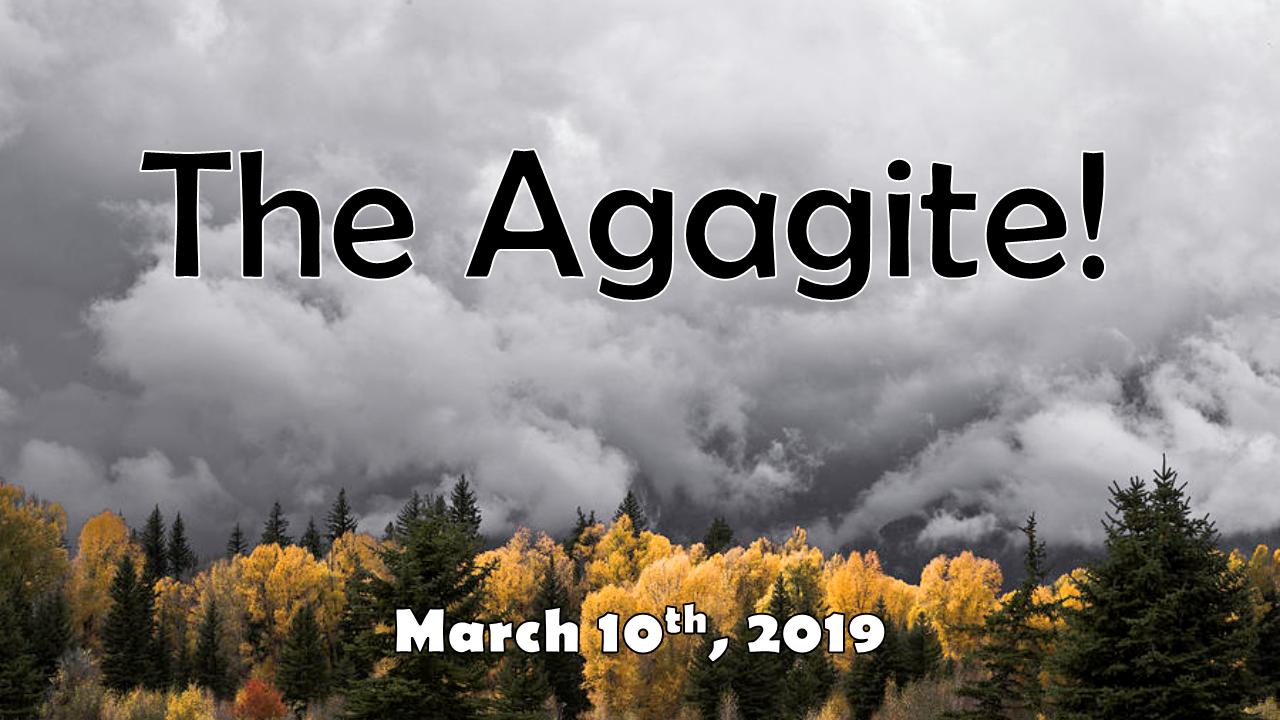 The Agagite! | March 10, 2019