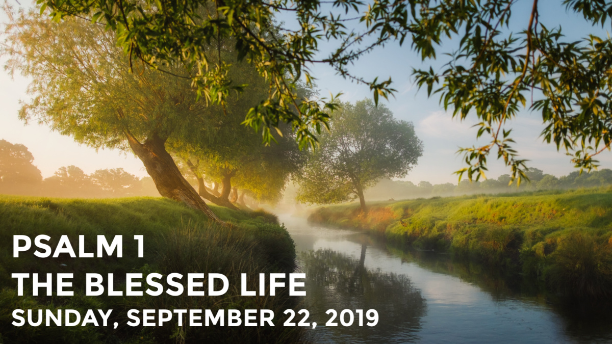 Psalm 1: The Blessed Life | September 22, 2019