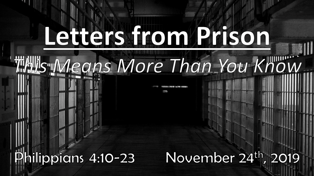 Letters From Prison | This Means More Than You Know | November 24, 2019